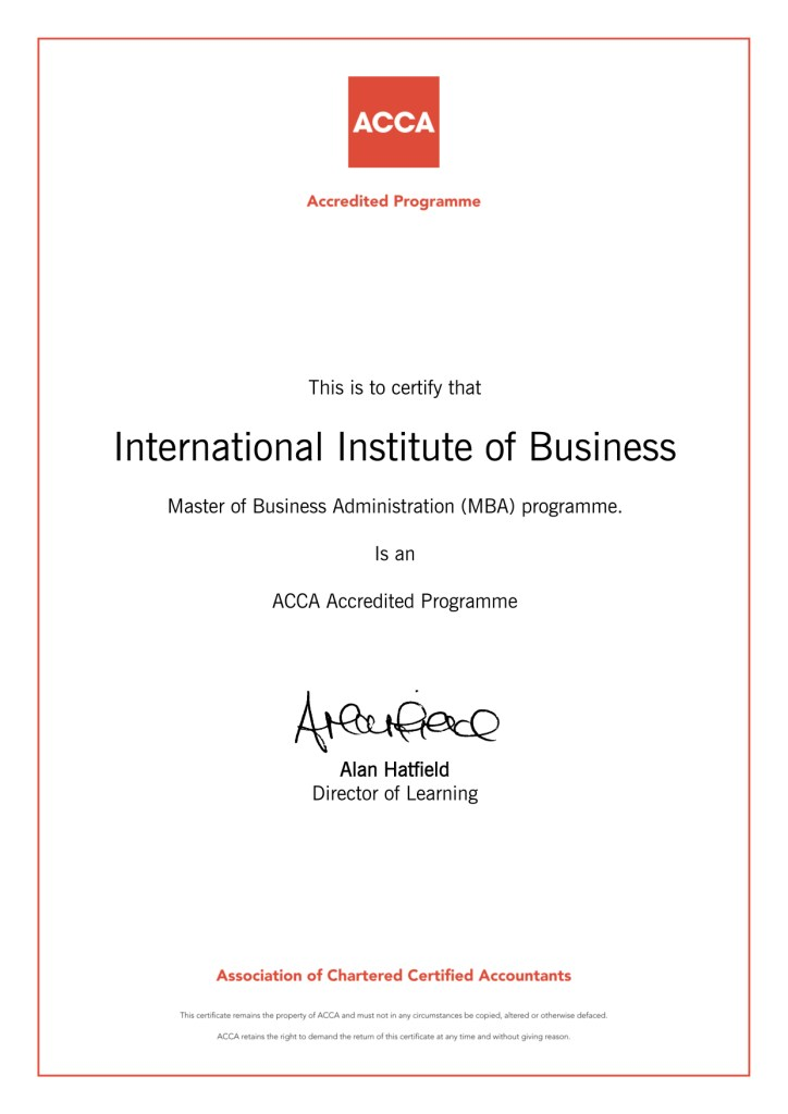 International Institute of Business 2017